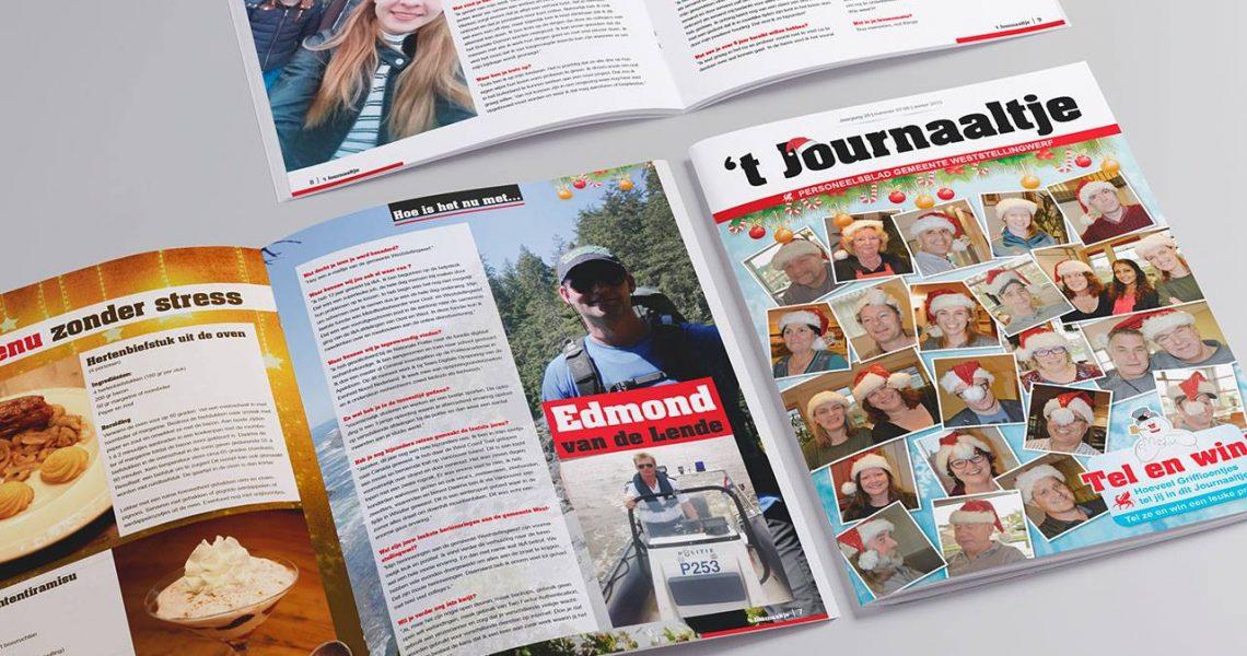 Personeelsblad 't Journaaltje gemeente Weststellingwerf