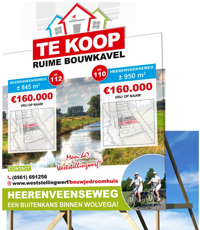 Bouwbord Heerenveenseweg groot